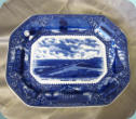 Staffordshire Blue and White Platter